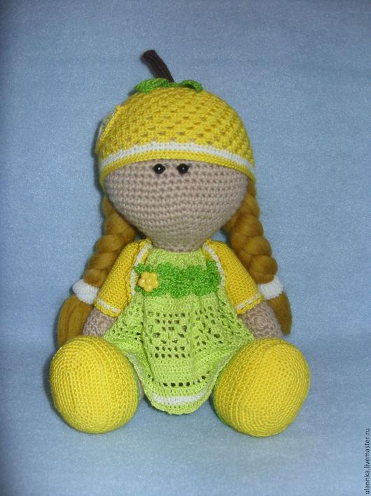 Куклы тыквоголовки ручной работы. Ярмарка Мастеров - ручная работа. Купить Куколка-тыквоголовка Лимона. Handmade. Лимонный, кукла интерьерная