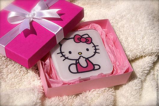 Мыло ручной работы. Ярмарка Мастеров - ручная работа. Купить Мыло Hello Kitty! в подарочной коробочке. Handmade. Мыло подарок
