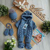 Комплекты одежды ручной работы. Ярмарка Мастеров - ручная работа Комплект для мальчика на выписку. Handmade.