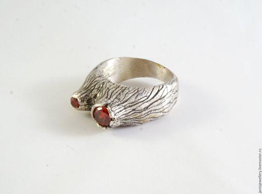 """Кольца ручной работы. Ярмарка Мастеров - ручная работа. Купить Кольцо """"Вулкан"""". Handmade. Ярко-красный, кольцо вулкан"""