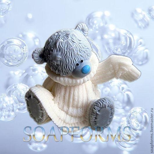 """Форма силиконовая для мыла """"Мишка Тедди в свитере 1"""""""