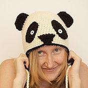 Аксессуары ручной работы. Ярмарка Мастеров - ручная работа шапка панда. Handmade.