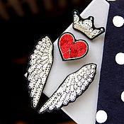 """Украшения ручной работы. Ярмарка Мастеров - ручная работа Комплект брошей   """"Крылья  """" ручная вышивка .. Handmade."""