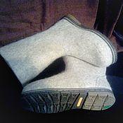 Обувь ручной работы. Ярмарка Мастеров - ручная работа Валенки мужские светлые. Handmade.