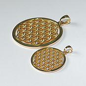 Фен-шуй и эзотерика handmade. Livemaster - original item The flower of Life (brass). Handmade.