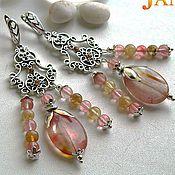 Украшения handmade. Livemaster - original item Earrings with cherry quartz. Handmade.