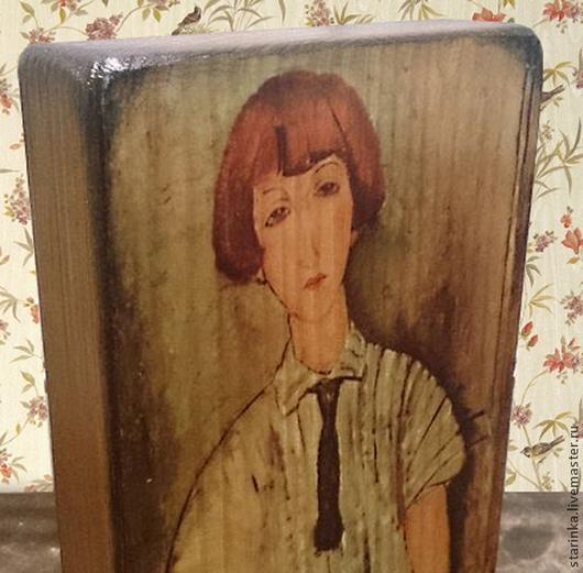 Репродукции ручной работы. Ярмарка Мастеров - ручная работа. Купить Модильяни женские портреты Панно на дереве. Handmade. Разноцветный, портрет