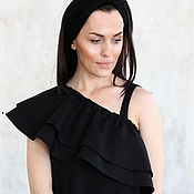 Одежда ручной работы. Ярмарка Мастеров - ручная работа Сарафан Black Diva. Handmade.