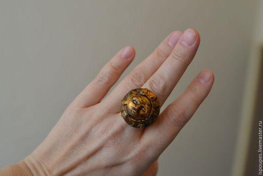 """Кольца ручной работы. Ярмарка Мастеров - ручная работа. Купить """"Живое..."""" кольцо. Handmade. Золотой, бохо-стиль, патина"""