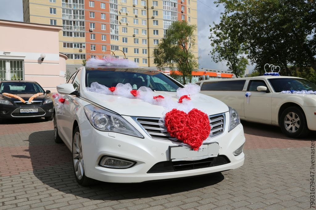 Свадебное украшение на машину купить в москве