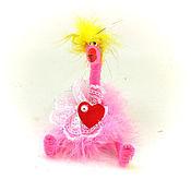 Куклы и игрушки ручной работы. Ярмарка Мастеров - ручная работа игрушка Курица розовая (птичка,цыпленок,фламинго,сердце). Handmade.