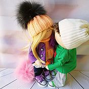Куклы и игрушки handmade. Livemaster - original item Textile doll in a couple of
