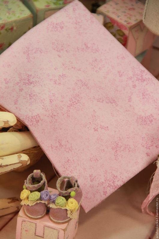 Куклы и игрушки ручной работы. Ярмарка Мастеров - ручная работа. Купить Ткань хлопок №162  с мелким рисунком. Handmade. Комбинированный