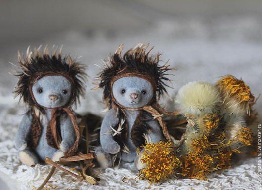 Мишки Тедди ручной работы. Ярмарка Мастеров - ручная работа. Купить Мини мишка Ёжик. Handmade. Голубой, мини мишка