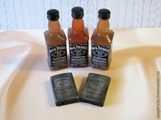 Мыло ручной работы. Ярмарка Мастеров - ручная работа. Купить Мыльный набор Jack Daniel's. Handmade. Черный, подарок для отца