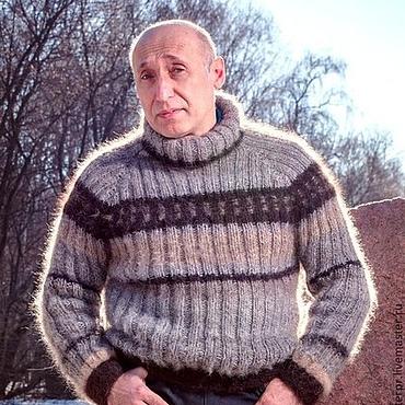 Одежда ручной работы. Ярмарка Мастеров - ручная работа Свитер мужской «Водолаз2» из собачьей шерсти. Handmade.