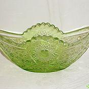 handmade. Livemaster - original item Vase Rook. Color pale GREEN glass. Hand carved!. Handmade.
