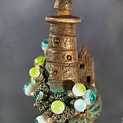 Украшения handmade. Livemaster - original item Pendant lighthouse and flowers of the Tulip tree. Handmade.