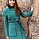 Верхняя одежда ручной работы. Пальто Malachite 2. Oksana Vadyun. Ярмарка Мастеров. Пальто демисезонное, пальто женское