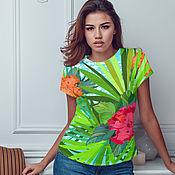 Одежда handmade. Livemaster - original item Women`s t-shirt Jungle. Handmade.