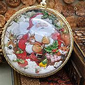 Сувениры и подарки handmade. Livemaster - original item Transparent Christmas balloon with birds. Handmade.