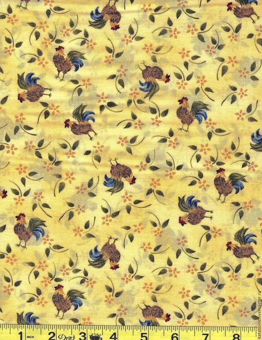 Шитье ручной работы. Ярмарка Мастеров - ручная работа. Купить 1243 Американская ткань. Handmade. Лимонный, ткань с рисунком, ткань