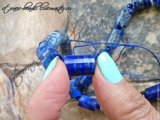 Для украшений ручной работы. Ярмарка Мастеров - ручная работа. Купить Лазурит афганский натуральный 1,6 на 1 см. призма с огранкой. Handmade.