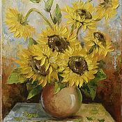Картины и панно ручной работы. Ярмарка Мастеров - ручная работа цветы солнца. Handmade.