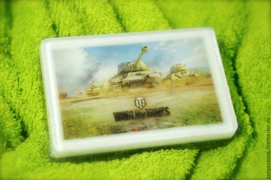 Подарки для мужчин, ручной работы. Ярмарка Мастеров - ручная работа. Купить Мыло World Of Tanks - танчики, танки, подарок мужчине в коробочке. Handmade.