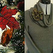 Одежда ручной работы. Ярмарка Мастеров - ручная работа Пуловер из кашемира и буретного шелка. Handmade.