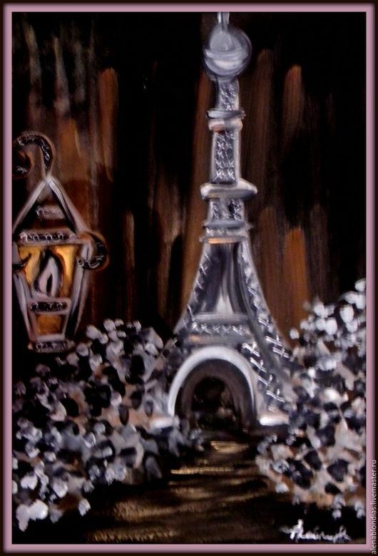 Ночной Париж..Город, который манит своей романтикой..Автор Скобло Алёна.Сделаю на заказ.