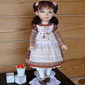 Куклы и пупсы ручной работы. Ярмарка Мастеров - ручная работа Алёнка- текстильная шарнирная кукла. Handmade.