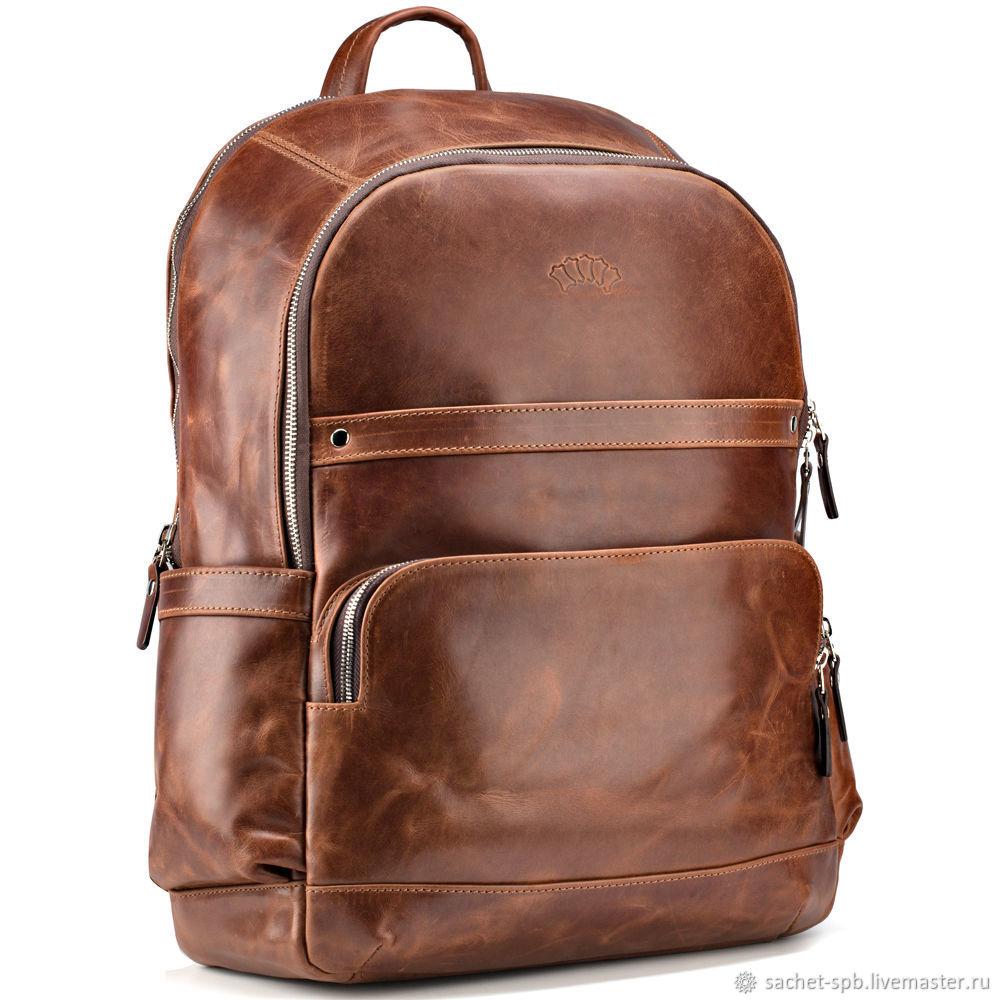 1553ba41b4 Backpacks handmade. Livemaster - handmade. Buy Leather backpack  Goodwin   (antique brown ...