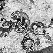 Украшения handmade. Livemaster - original item Bracelet Chameleon. Silver, kyanite, tourmaline, moonstone. Handmade.