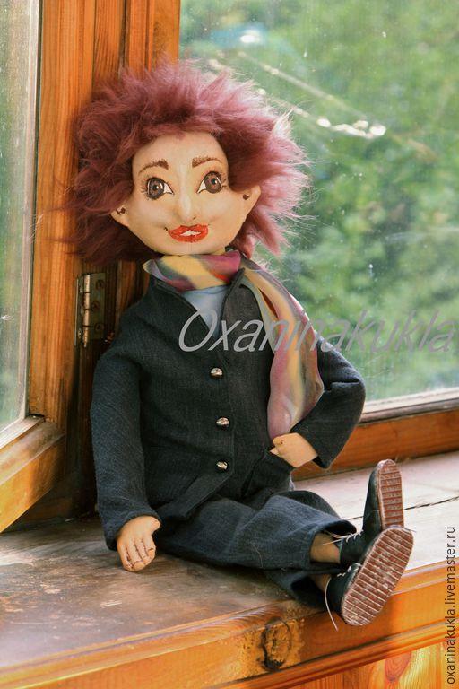 Куклы тыквоголовки ручной работы. Ярмарка Мастеров - ручная работа. Купить Текстильная кукла.. Handmade. Разноцветный, подарок, кукла текстильная