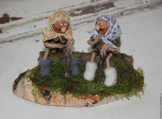 Сказочные персонажи ручной работы. Ярмарка Мастеров - ручная работа. Купить Лесные бабули. Handmade. Зеленый, игрушка на новый год, бабка