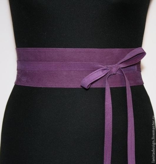"""Пояса, ремни ручной работы. Пояс из замши """"Violet 7"""". Lanita Design. Ярмарка Мастеров."""