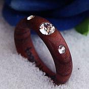 Rings handmade. Livemaster - original item Copy of Copy of Copy of Wooden ring with emerald. Handmade.