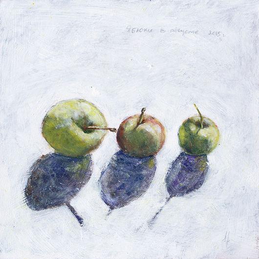 Натюрморт ручной работы. Ярмарка Мастеров - ручная работа. Купить Яблочный август. Handmade. Белый, зеленый, август, солнце, подарок