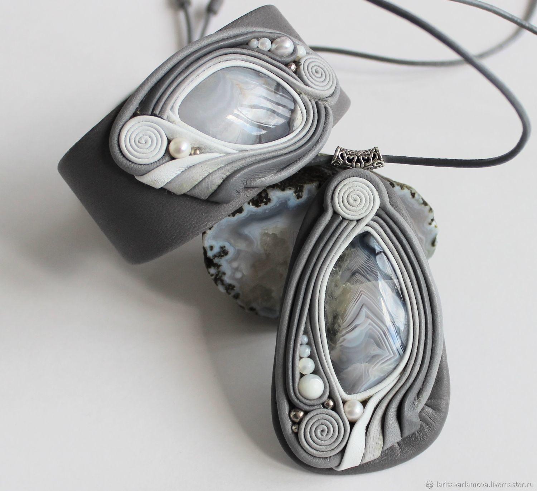 Jewelry set: pendant and bracelet with Jasper, Jewelry Sets, Velikiy Novgorod,  Фото №1