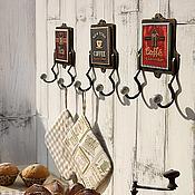 """Для дома и интерьера ручной работы. Ярмарка Мастеров - ручная работа Крючки серии """"Кафе"""". Handmade."""