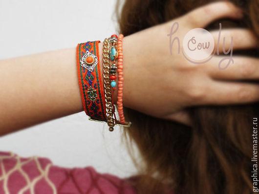 """Браслеты ручной работы. Ярмарка Мастеров - ручная работа. Купить Яркий браслет дружбы """"Hippie Way"""". Handmade. Браслет"""