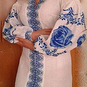 """Одежда ручной работы. Ярмарка Мастеров - ручная работа Платье """" Голубая гжель"""". Handmade."""