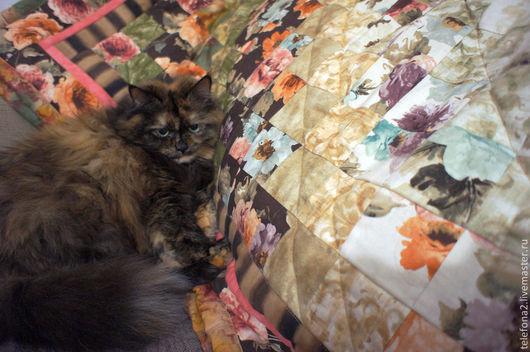 Текстиль, ковры ручной работы. Ярмарка Мастеров - ручная работа. Купить Лоскутное покрывало Цветочная акварель (8). Handmade.