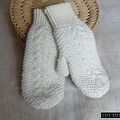Аксессуары handmade. Livemaster - original item double mittens knitted