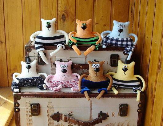 Игрушки животные, ручной работы. Ярмарка Мастеров - ручная работа. Купить Интерьерные игрушки Коты-обормоты. Handmade. Кот, юмор