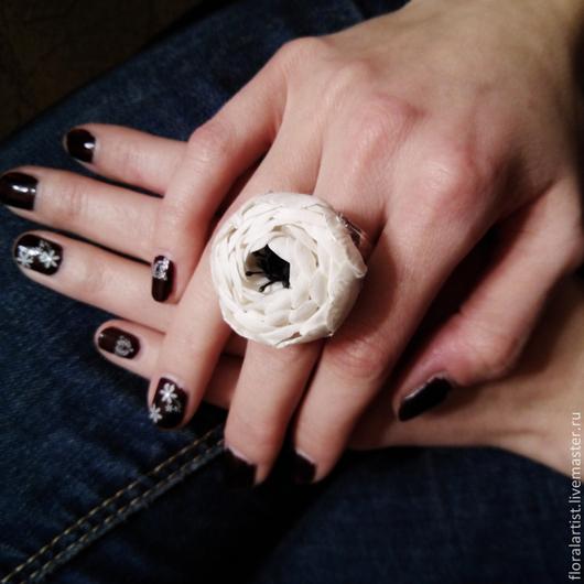 """Кольца ручной работы. Ярмарка Мастеров - ручная работа. Купить кольцо """"Белое-чёрное"""". Handmade. Чёрно-белый, подарок"""