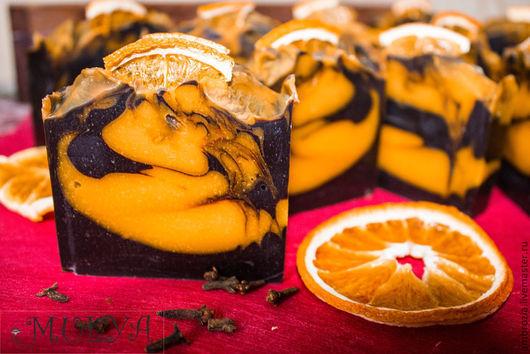 Мыло ручной работы. Ярмарка Мастеров - ручная работа. Купить шоколадно - апельсиновый глинтвейн с нуля CP. Handmade. Коричневый, подарок
