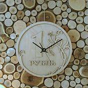 """Для дома и интерьера ручной работы. Ярмарка Мастеров - ручная работа Настенные часы """"Рубль"""". Handmade."""