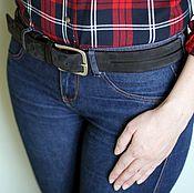 Аксессуары handmade. Livemaster - original item Black suede wide belt. Handmade.
